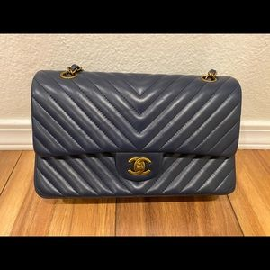 Chanel Lampskin Classic Doule flap bag